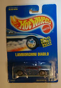 Hot Wheels Blue Card 176 Lamborghini Diablo Metal Flake Blue Paint