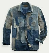 Rrl Limited Edition Hand Quilted Patchwork Work Shirt Menand039s Large L