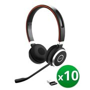 Jabra Evolve 65 Ms Stereo Headset Connects To Pc Mobile And Tablet 10-pack