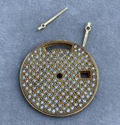 Rolex Day-date Day Date Gold Diamond Pave Replacement Watch Dial + Hands