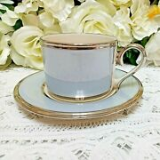 ❤ Lenox Blue Frost Cup And Saucer Set