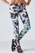 Fabletics Mid-rise Printed Powerhold® Legging Size S Uk 10 Rrp £72 Dh014 Mm 09