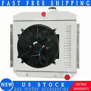 4 Row Radiator Shroud Fan For 1955 1956 1957 Chevy Bel Air/one-fifty/two-ten V8