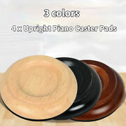 4x Upright Piano Caster Solid Wood Pads Anti-slip Anti-noise Furniture Cap Tool