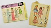 Mccalland039s 6748 And 2701 Sewing Pattern Dress Frock Bloomers Toddler Baby Girl Sz 2