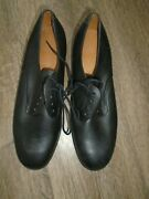 Womens Black Leather Service Shoes Soft Leather Size Uk 6.5m British Army/raf
