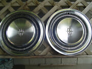 2 Vintage 1966 66 Lincoln Mark Continental Premier Town Car Hubcaps Wheel Covers