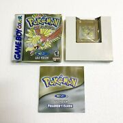 Pokemon Gold Version Gameboy Color Complete Game + Box + Manual