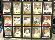 Baseball Greats Matted 15/card Reprint Collectable 12in X 16in Nmt Looks Great