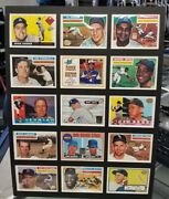 Baseball Greats 2 Matted 15/card Reprint Collectable 12 X 16 Nmt Looks Great