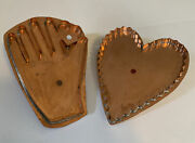 Martha Stewart By Mail Copper My Heart In Your Hand And Big Heart Cookie Cutter