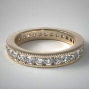 1.00 Carat Natural Diamond Engagement Bands Solid 14k Yellow Gold Size 5 6.5 7 8