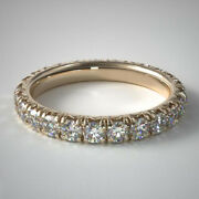 1.50 Carat Real Diamond Engagement Rings For Ladies 14k Yellow Gold Size 6 7 8 9