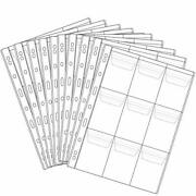 9 Pocket Coin Pages, 10 Sheets Plastic Coin Holders Stamp Collector 9 Pocket