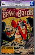Brave And Bold 3-cgc 5.0 Trimmed-1955-dc Silent Knight Cvr.
