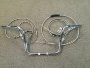 Harley Touring 96-07 Chrome 12 Ape Hanger Kit Bars Cables Cruise Wire Ext
