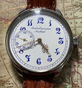 High Grade Fully Chaton Ch Meylan Pocket Watch Movement In New Marriage Case