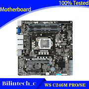 For Asus Ws C246m Pro/se Server Motherboard Supports 128gb Ddr4 1151pin Vga Sli