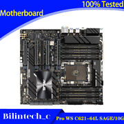 For Asus Pro Ws C621-64l Sage/10g Server Motherboard Supports 128gb Ddr4 3647