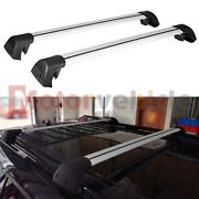 Us Stock For Ford Explorer 2020 2021 Silver Cross Bar Roof Rack Rail Baggage