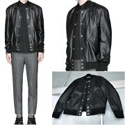 Ultrarare And Gorgeous Givenchy Aw15 Calfskin Stars Lambskin Leather Bomber Jacket