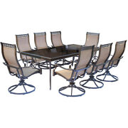 Hanover Mondn9pcswg Monaco 9 Piece Set With Eight Swivel Rockers And An Extra Lo