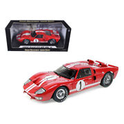 1966 Ford Gt-40 Mk 2 Red 1 1/18 Diecast Model Car By Shelby Collectibles Sc4...