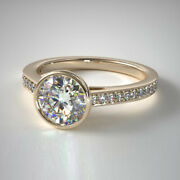Solid 14k Yellow Gold 0.70 Ct Real Diamond Engagement Womenand039s Ring Size 5 6 7 8
