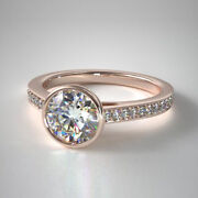 Christmas Sale Fine 14k Rose Gold 0.70 Ct Real Diamond Engagement Ring 5 6 7 8 9