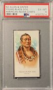 1888 N2 Allen And Ginter American Indian Chiefs Young Black Dog Psa 6 Ex-mt