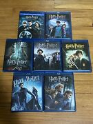 Lot Of 7 Harry Potter Blu Ray Movies - Includes Deadly Hallows Part 1 And 2