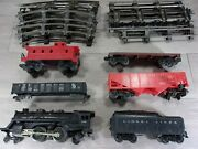Vintage Lionel Train Set 246 Engine, Cars, Caboose, Coal Car And Track Md In Usa