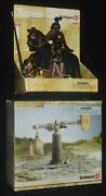 Schleich Black Knight On Horse W Gold Cross Coat Of Arms 70032 And Quintain 42015