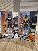 Power Rangers Lightning Collection Blk Rangers Action Figure With And W/o Shield