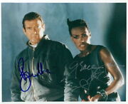 Grace Jones And Roger Moore Signed 8x10 Photo A View To A Kill James Bond