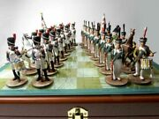 Chess, Borodino, French And Russian Soldiers, Metal, 54 Mm