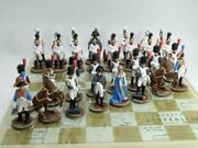 Chess, Austerlitz, French And Russian Soldiers, Metal, 54 Mm