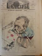 1860-1880 Caricatures Mp Regular Dog Letter Drawing Gill
