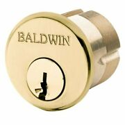 Baldwin 8327031 8327 1-3/4 Mortise Cylinder C Keyway, Non-lacquered Brass