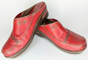 L And039artiste Spring Step Burbank Clogs Floral Burgundy Red Leather Women Us 7.5 39