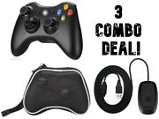 Microsoft Wireless Game Gamepad For Xbox And Pc + Wireless Receiver + Travel Pouch