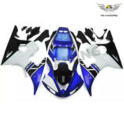 Woo Injection Blue White Fairing Fit For Yamaha 03-05 Yzf R6 And 06-09 R6s V056