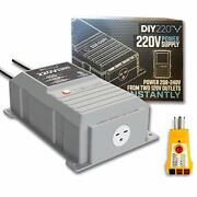 Diy220 Quick Connect 220v Power Supply Power 208-240 Volts From Two Separate ...