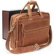 Luxorro Leather Briefcases For Men | Soft Full-grain Leather Laptop Bags For ...
