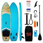Seaseesup Inflatable Stand Up Paddle Board For Adults Youth And Kids 10and0396 Bl...