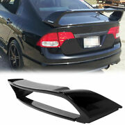Rear Trunk Wing Spoiler For 11- 16 2nd Scion Tc Unpainted Black Abs Plastic