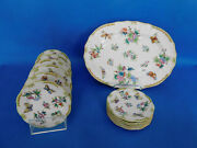 Herend Queen Victoria Plate Set Serving Plate Porcelain Vbo13 Plate