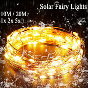 Xmas Strip Lights Solar Powered Holiday 20m 200led/10m 100led Party Waterproof