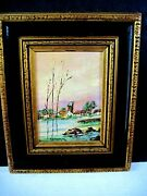 Vintage Oil Paintings By Tea Weintraub Sternklar - Barcola Italy And Framed