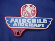 Nos Vintage Antique Fairchild Aircraft Airplane Fa License Plate Topper Minty